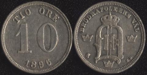 Швеция 10 оре 1896