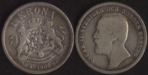 Швеция 1 крона 1903