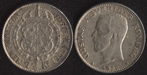 Швеция 1 крона 1939