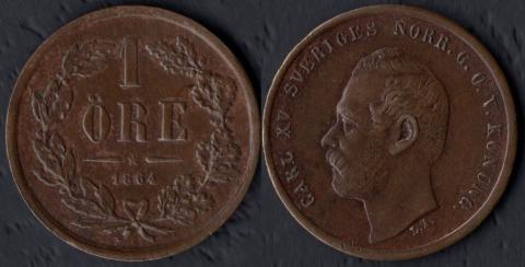 Швеция 1 оре 1864