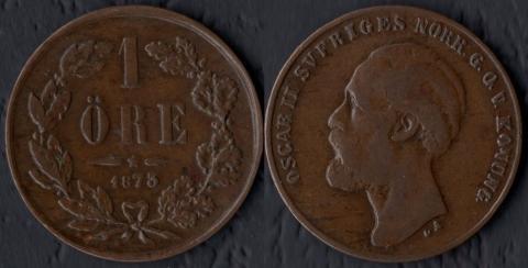 Швеция 1 оре 1873