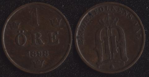 Швеция 1 оре 1898