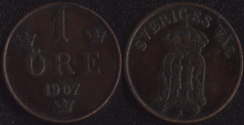 Швеция 1 оре 1907