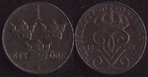 Швеция 1 оре 1942