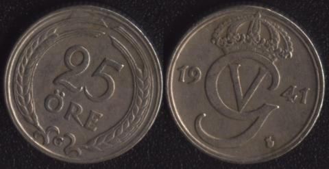 Швеция 25 оре 1941