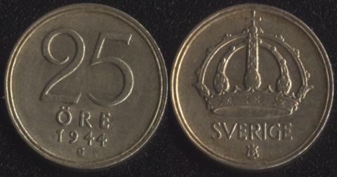 Швеция 25 оре 1944