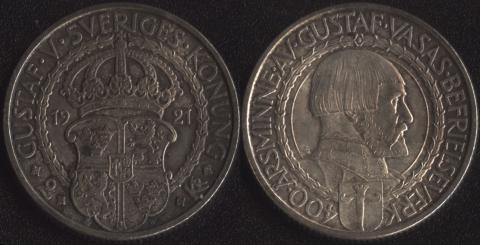 Швеция 2 кроны 1921