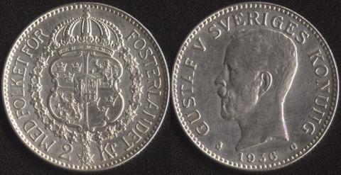 Швеция 2 кроны 1936