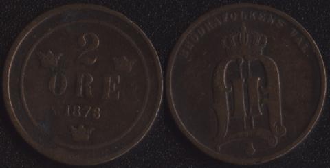 Швеция 2 оре 1876