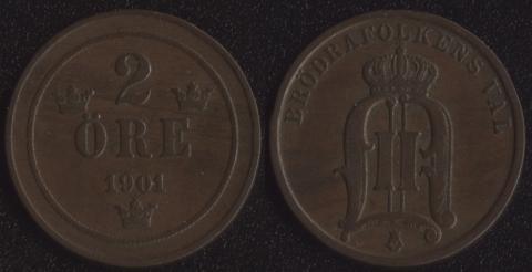 Швеция 2 оре 1901