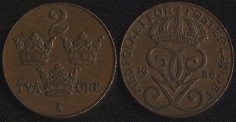 Швеция 2 оре 1926