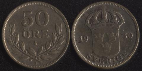 Швеция 50 оре 1930