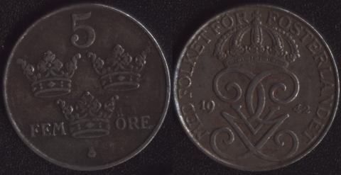 Швеция 5 оре 1942