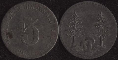 Шёнвальд 5 пфеннигов 1918