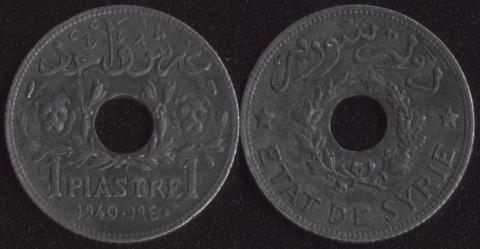 Сирия 1 пиастр 1940