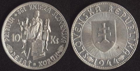 Словакия 10 корун 1944