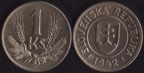 Словакия 1 коруна 1942