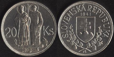 Словакия 20 корун 1941