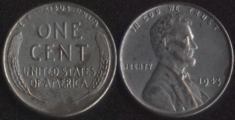 США 1 цент 1943