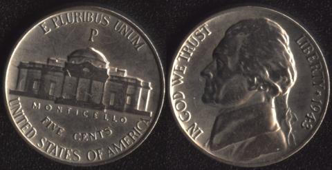 США 5 центов 1943