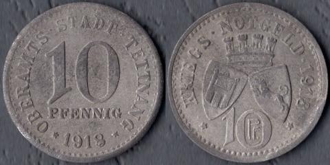 Теттнанг 10 рфеннигов 1918