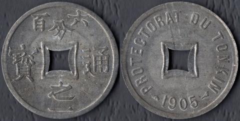 Тонкин 1/600 пиастра 1905