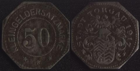 Торгау 50 пфеннигов 1917