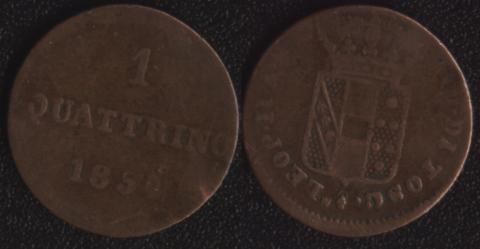Герцогство Тосканское 1 кваттрино 1854