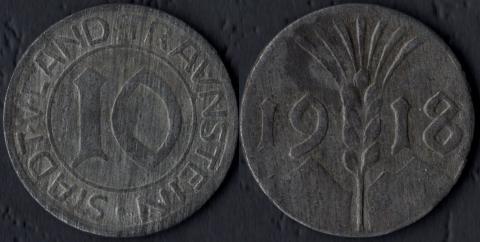 Траунштайн 10 пфеннигов 1918