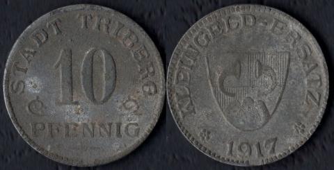Триберг 10 пфеннигов 1917