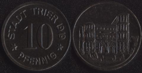 Трир 10 пфеннигов 1919