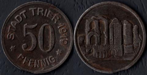 Трир 50 пфеннигов 1919