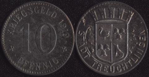 Тройхтлинген 10 пфеннигов 1919