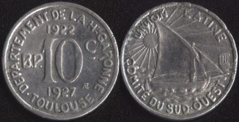 Тулуза 10 сантим 1922-1927