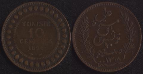 Французский Тунис 10 сантим 1891