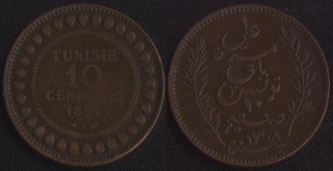 Тунис 10 сантим 1891