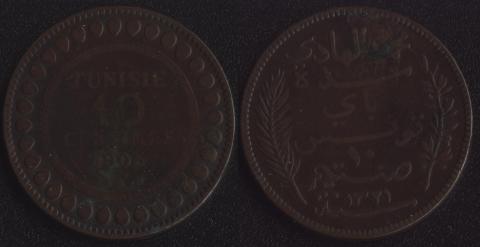 Французский Тунис 10 сантим 1903