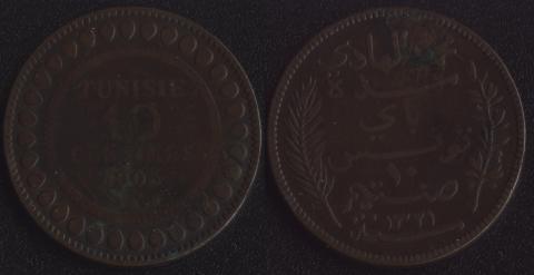 Тунис 10 сантим 1903