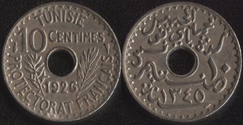 Тунис 10 сантим 1926