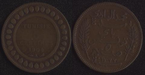Французский Тунис 5 сантим 1904