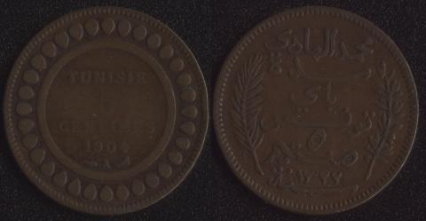 Тунис 5 сантим 1904