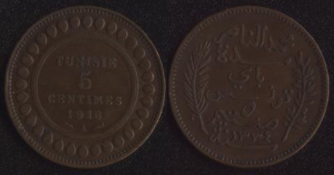 Тунис 5 сантим 1916