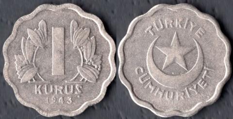 Турция 1 куруш 1943