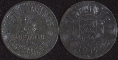 Туттлинген 5 пфеннигов 1917