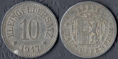 Уффенхайм 10 пфеннигов 1917