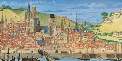 Руан. Вид на город. 1526 год.