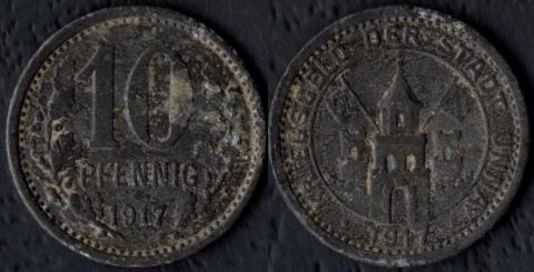 Унна 10 пфеннигов 1917