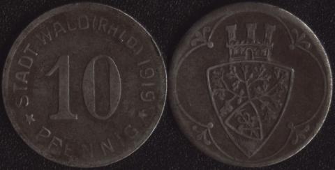 Вальд 10 пфеннигов 1919