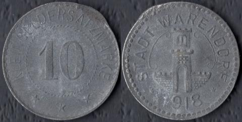 Варендорф 10 пфеннигов 1918