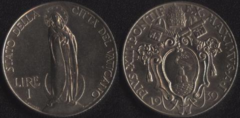 Ватикан 1 лира 1939